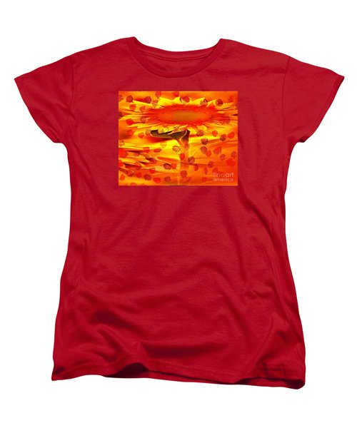 Women's T-Shirt (Standard Cut) featuring the painting Always Turn Your Head Towards The Sun by PainterArtist FIN