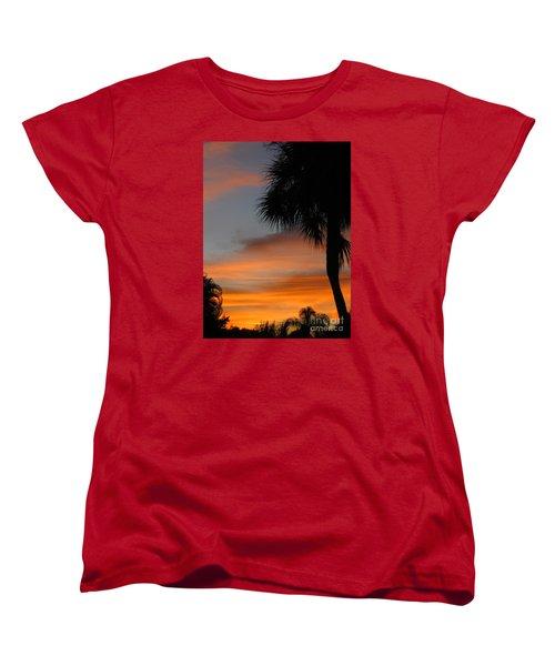 Amazing Sunrise In Florida Women's T-Shirt (Standard Cut) by Oksana Semenchenko