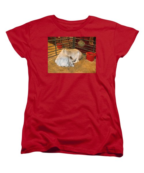 Women's T-Shirt (Standard Cut) featuring the photograph American Brahman Heifer by Connie Fox