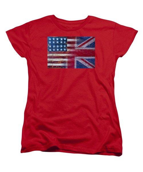 American British Flag Women's T-Shirt (Standard Cut) by Garry Gay
