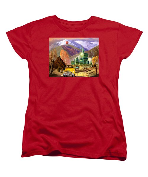 Women's T-Shirt (Standard Cut) featuring the painting Trucks In Oz by Art James West