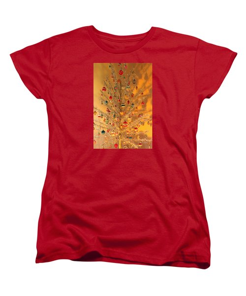 An Old Fashioned Christmas - Aluminum Tree Women's T-Shirt (Standard Cut) by Suzanne Gaff