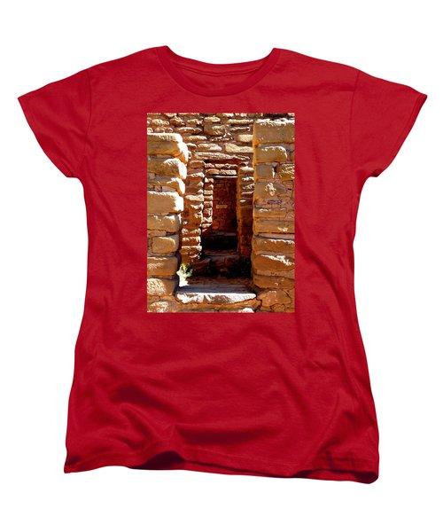 Women's T-Shirt (Standard Cut) featuring the photograph Ancient Doorways by Alan Socolik