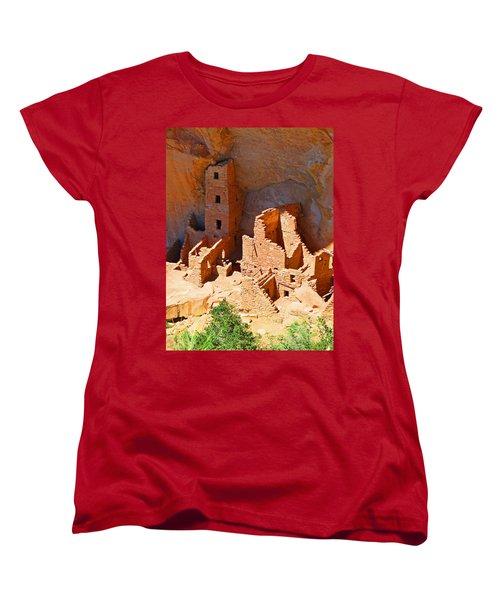 Ancient Dwelling Women's T-Shirt (Standard Cut) by Alan Socolik