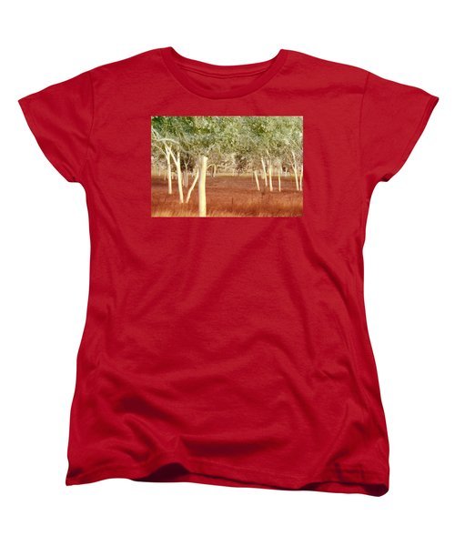 And The Trees Danced Women's T-Shirt (Standard Cut) by Holly Kempe