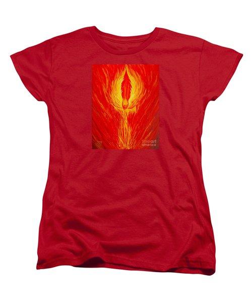 Angel Fire Women's T-Shirt (Standard Cut) by Nancy Cupp