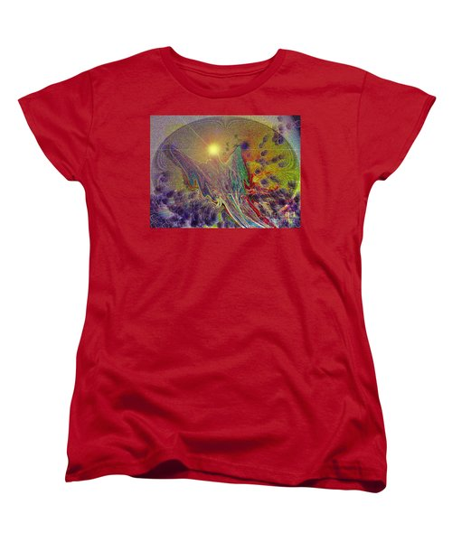 Women's T-Shirt (Standard Cut) featuring the digital art Angel Taking Flight by Alison Caltrider