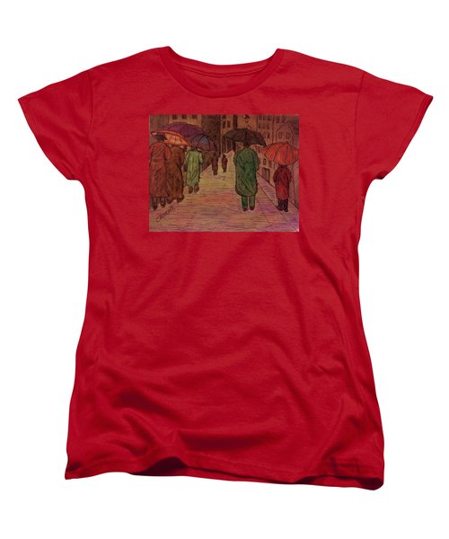 Another Walk In The Rain Women's T-Shirt (Standard Cut) by Christy Saunders Church
