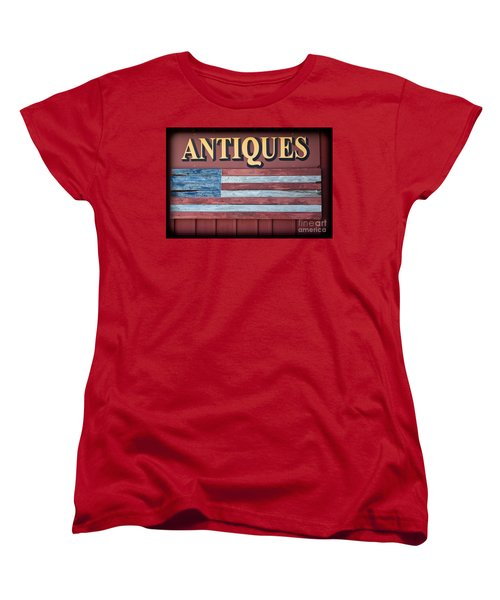 Antiques Women's T-Shirt (Standard Cut) by Colleen Kammerer