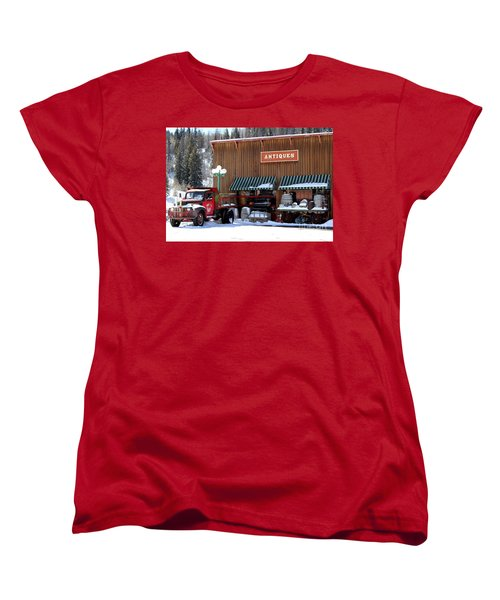 Antiques In The Mountains Women's T-Shirt (Standard Cut) by Fiona Kennard