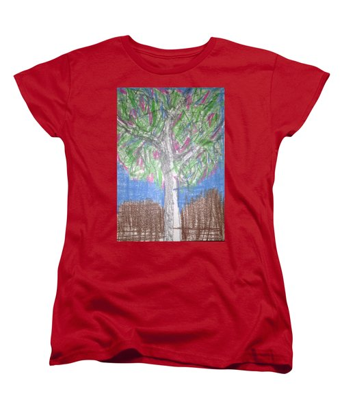 Apple Tree Women's T-Shirt (Standard Cut) by Erika Chamberlin