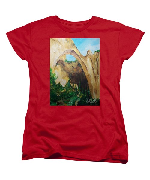 Women's T-Shirt (Standard Cut) featuring the painting Arch by Eric  Schiabor