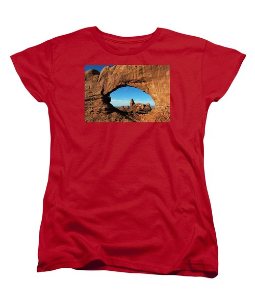 Women's T-Shirt (Standard Cut) featuring the photograph Arches National Park 61 by Jeff Brunton