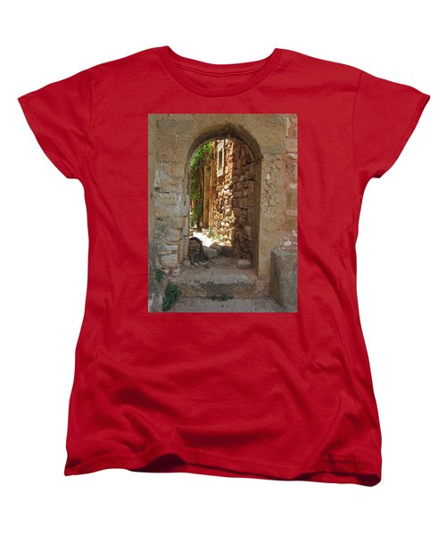 Women's T-Shirt (Standard Cut) featuring the photograph Archway by Pema Hou