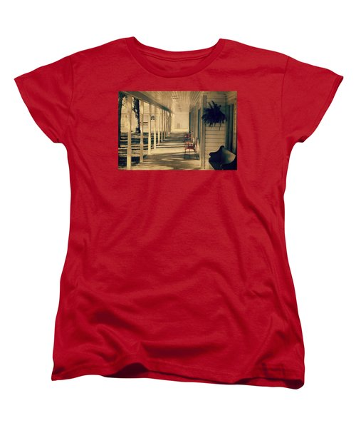 Arnold Park's Shops Women's T-Shirt (Standard Cut) by Julie Hamilton