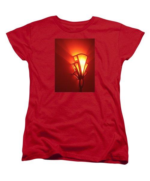 Women's T-Shirt (Standard Cut) featuring the photograph Art Deco Light Fox Tucson Arizona  Theater  2006 by David Lee Guss
