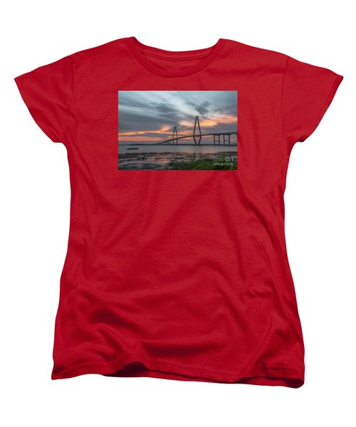 Women's T-Shirt (Standard Cut) featuring the photograph Orange Nebulous by Dale Powell