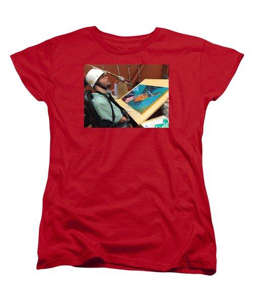 Artist Working Women's T-Shirt (Standard Cut) by Donald J Ryker III
