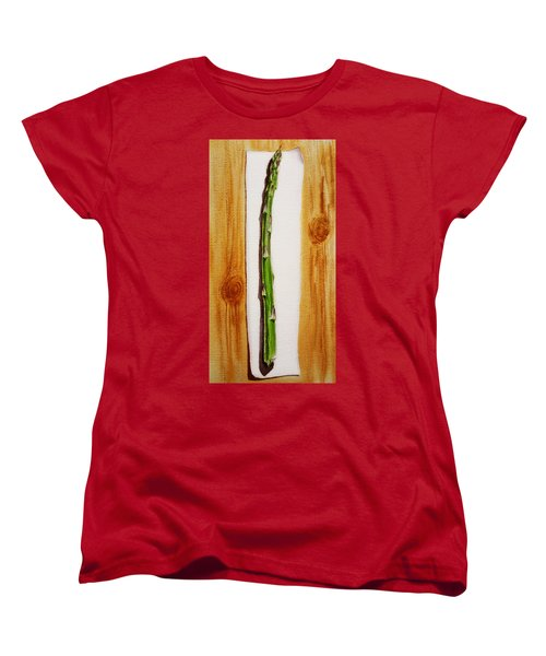 Asparagus Tasty Botanical Study Women's T-Shirt (Standard Cut) by Irina Sztukowski