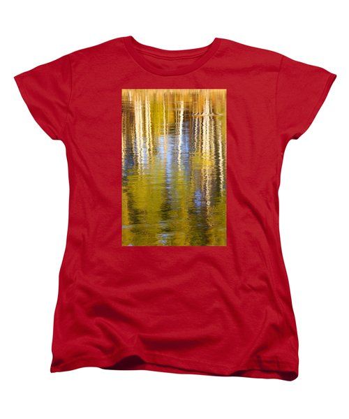 Women's T-Shirt (Standard Cut) featuring the photograph Aspen Reflection by Kevin Desrosiers