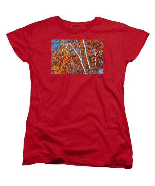 Women's T-Shirt (Standard Cut) featuring the photograph Aspen by Sebastian Musial
