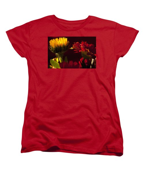 Women's T-Shirt (Standard Cut) featuring the photograph Asters In The Light by Andrew Soundarajan