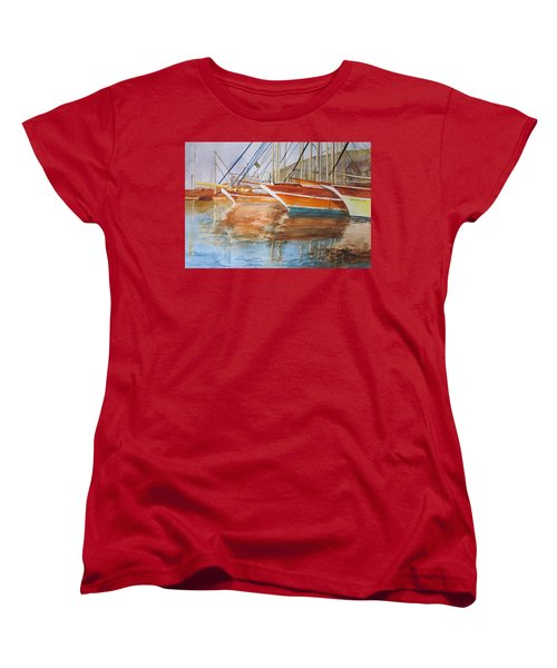 At The Dock Women's T-Shirt (Standard Cut) by Maris Sherwood
