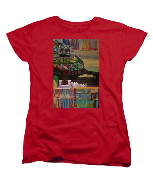 Women's T-Shirt (Standard Cut) featuring the painting Atlantis by Barbara St Jean
