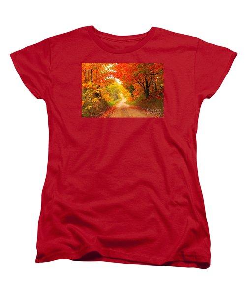 Women's T-Shirt (Standard Cut) featuring the photograph Autumn Cameo 2 by Terri Gostola