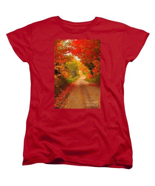 Women's T-Shirt (Standard Cut) featuring the photograph Autumn Cameo by Terri Gostola