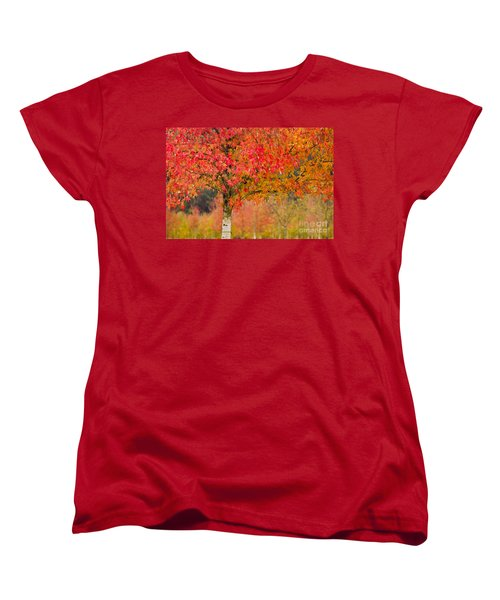 Autumn Fire Women's T-Shirt (Standard Cut) by Sonya Lang