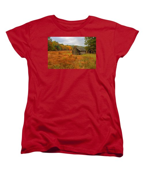 Autumn Foliage In Valley Forge Women's T-Shirt (Standard Cut) by Michael Porchik
