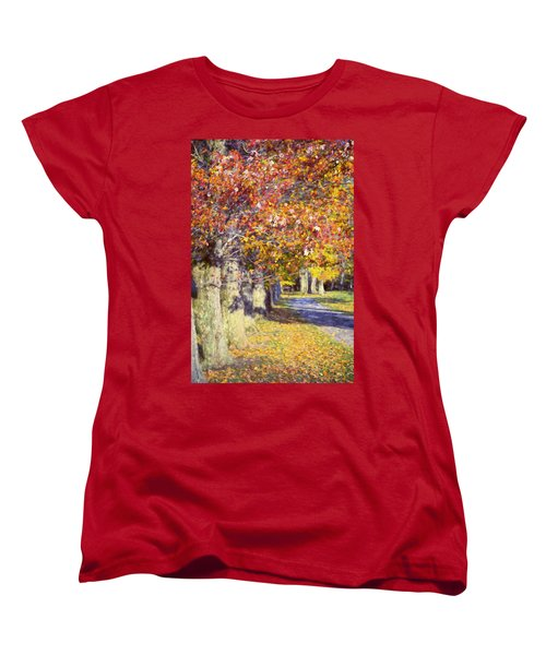 Autumn In Hyde Park Women's T-Shirt (Standard Cut) by Joan Carroll