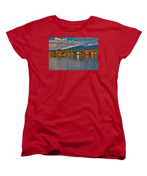 Autumn In Melvin Village Women's T-Shirt (Standard Cut) by Brenda Jacobs
