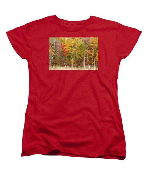 Autumn In Muskoka Women's T-Shirt (Standard Cut) by Les Palenik
