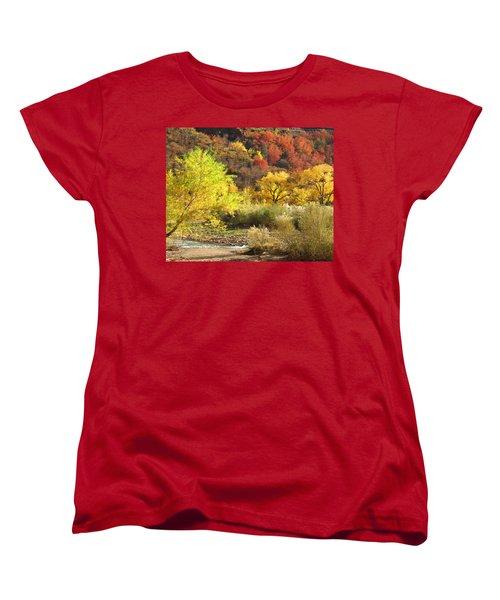 Women's T-Shirt (Standard Cut) featuring the photograph Autumn In Zion by Alan Socolik