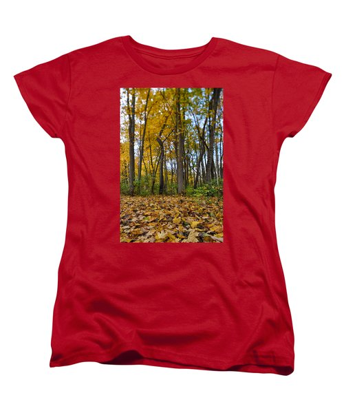 Women's T-Shirt (Standard Cut) featuring the photograph Autumn Is Here by Sebastian Musial
