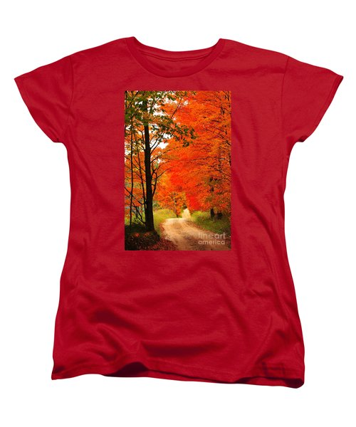 Autumn Orange 2 Women's T-Shirt (Standard Cut) by Terri Gostola
