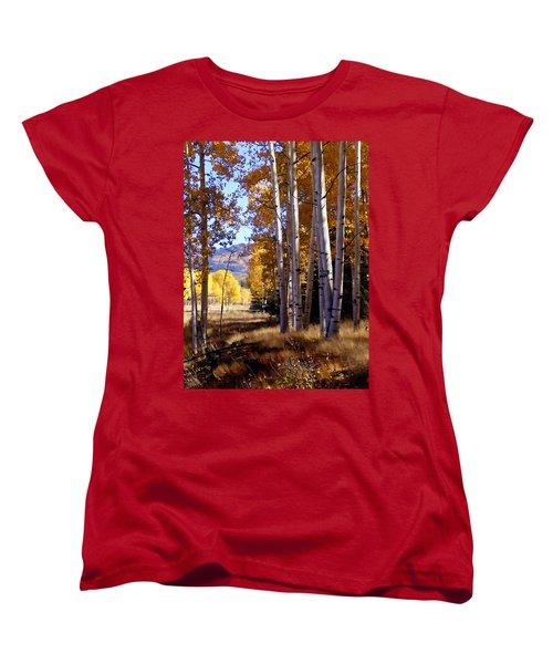 Autumn Paint Chama New Mexico Women's T-Shirt (Standard Cut) by Kurt Van Wagner