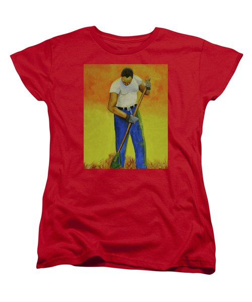 Autumn Raking Women's T-Shirt (Standard Cut) by Thomas J Herring