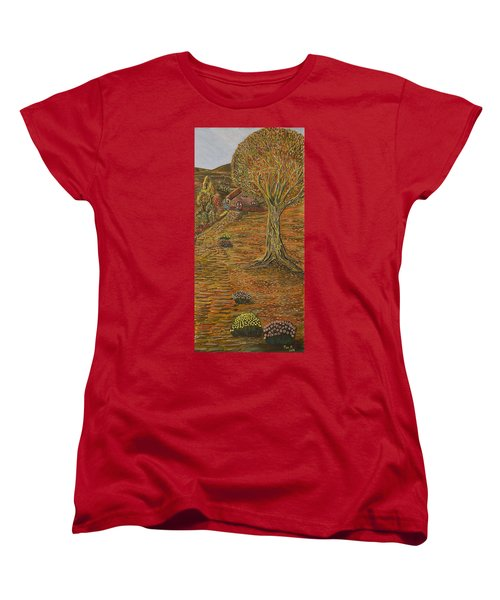 Autumn Sequence Women's T-Shirt (Standard Cut) by Felicia Tica