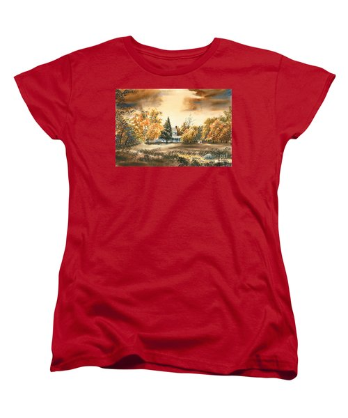 Autumn Sky No W103 Women's T-Shirt (Standard Cut) by Kip DeVore