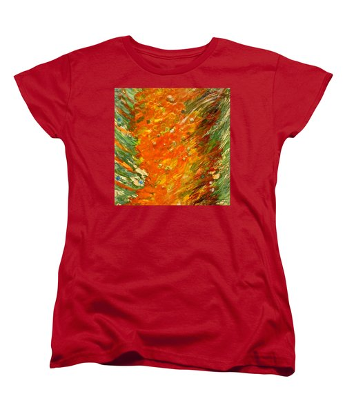 Women's T-Shirt (Standard Cut) featuring the painting Autumn Wind by Joan Reese