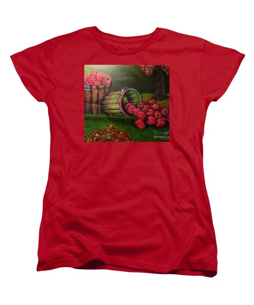 Women's T-Shirt (Standard Cut) featuring the painting Autumn's Bounty In The Volunteer State by Kimberlee Baxter