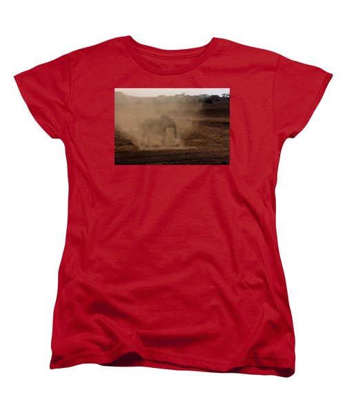 Women's T-Shirt (Standard Cut) featuring the photograph Baby Elephant  by Amanda Stadther