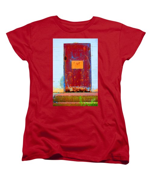 Women's T-Shirt (Standard Cut) featuring the photograph Back Door by Christiane Hellner-OBrien