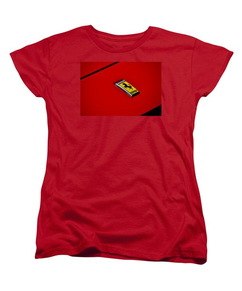 Women's T-Shirt (Standard Cut) featuring the photograph Badge In Red by Dean Ferreira