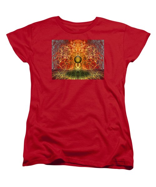 Women's T-Shirt (Standard Cut) featuring the digital art Ball And Strings by Otto Rapp