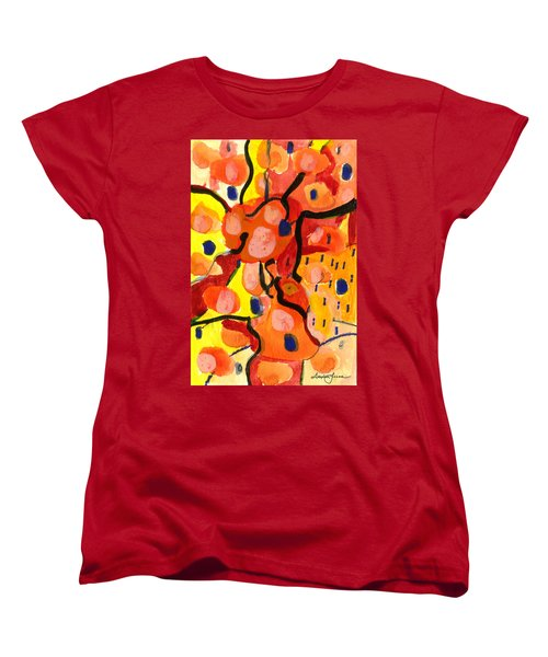 Women's T-Shirt (Standard Cut) featuring the painting Balloons At Mid-day by Stephen Lucas