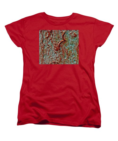 Women's T-Shirt (Standard Cut) featuring the digital art Bark Layered by Stephanie Grant